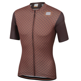 Sportful Checkmate Maillot de cyclisme Homme, chocolate coconut